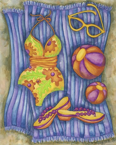 Bathing Suits With Balls Poster by Andrea Strongwater for $56.25 CAD
