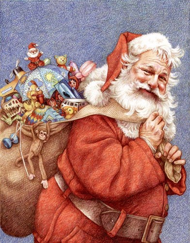 Finished Santa Poster by Anne Yvonne Gilbert for $32.50 CAD