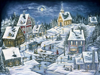 A Hidden Mountain Village Poster by Ann Stookey for $67.50 CAD
