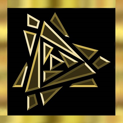 Black And Gold 9 Poster by Art Deco Designs for $45.00 CAD