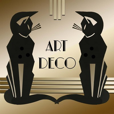 Art Deco Cats 1 Poster by Art Deco Designs for $45.00 CAD