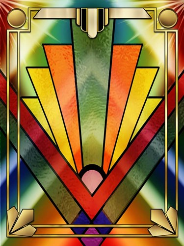 Art Deco Chevron 2V Poster by Art Deco Designs for $41.25 CAD