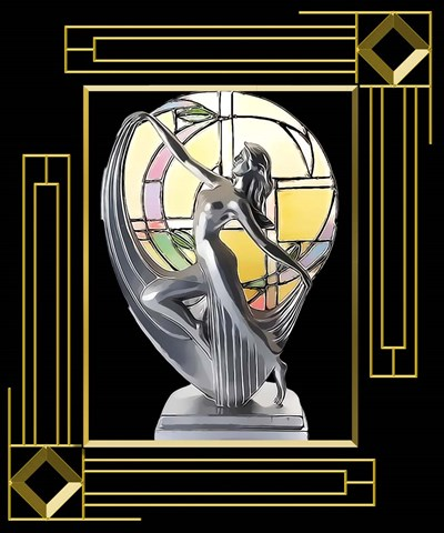 Art Deco Lamp Poster by Art Deco Designs for $38.75 CAD