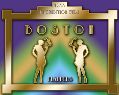 Boston Prohibition Poster by Art Deco Designs for $40.00 CAD