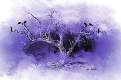 Dead Tree And Black Birds Poster by Ata Alishahi for $43.75 CAD