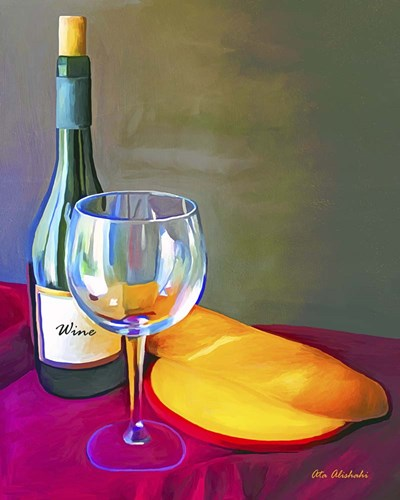 Wine Bread Poster by Ata Alishahi for $56.25 CAD