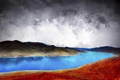 Blue River Poster by Ata Alishahi for $43.75 CAD
