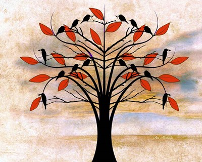 Black Birds on Tree Poster by Ata Alishahi for $56.25 CAD
