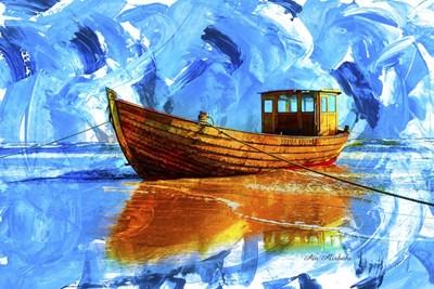 Yellow Boat A2 Poster by Ata Alishahi for $43.75 CAD