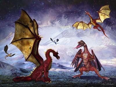 Dragon Land Poster by Ata Alishahi for $53.75 CAD