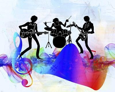 Rock Band Poster by Ata Alishahi for $56.25 CAD