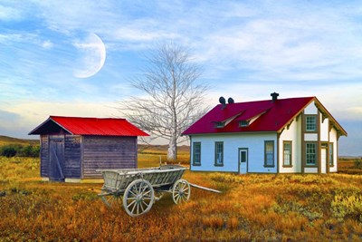 Red House Farm Poster by Ata Alishahi for $43.75 CAD