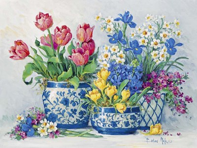 Spring Garden in Blue I Poster by Barbara Mock for $41.25 CAD