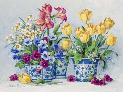 Spring Garden in Blue II Poster by Barbara Mock for $41.25 CAD