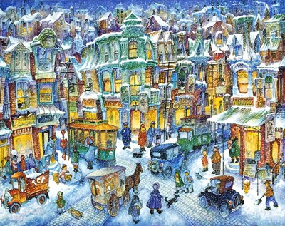 Old City Snow Poster by Bill Bell for $42.50 CAD