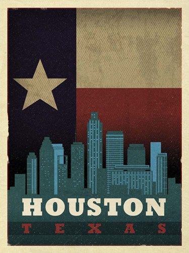 Houston Flag Poster by Red Atlas Designs for $41.25 CAD