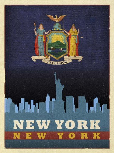 NYC flag Poster by Red Atlas Designs for $41.25 CAD