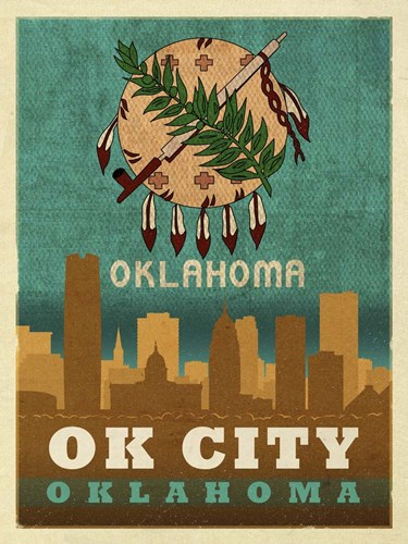 OK City flag Poster by Red Atlas Designs for $41.25 CAD