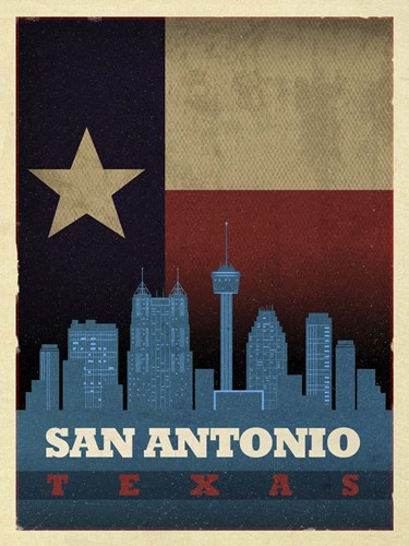 San Antonio Flag Poster by Red Atlas Designs for $41.25 CAD