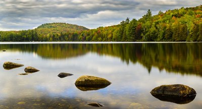 Fall Reflection On Ricker Pond Poster by Brenda Petrella Photography LLC for $38.75 CAD