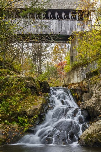 Mill Bridge Waterfall Poster by Brenda Petrella Photography LLC for $43.75 CAD