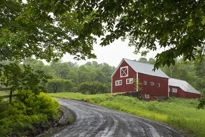 Red Barn Poster by Brenda Petrella Photography LLC for $43.75 CAD
