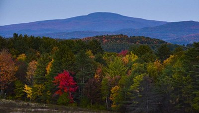 Smarts Mountain In Autumn Poster by Brenda Petrella Photography LLC for $40.00 CAD