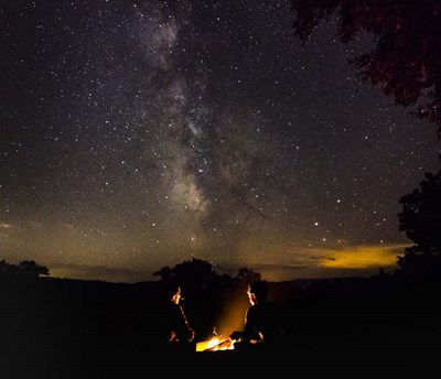Starlit Firepit Poster by Brenda Petrella Photography LLC for $51.25 CAD