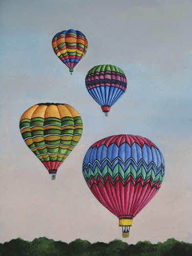 Balloons at Dawn Poster by Carol J Rupp for $41.25 CAD