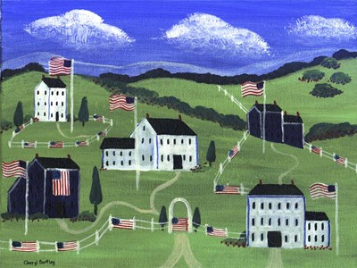 American Village Poster by Cheryl Bartley for $41.25 CAD