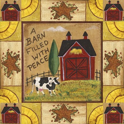 A Barn Filled With Peace 1 Poster by Cheryl Bartley for $48.75 CAD