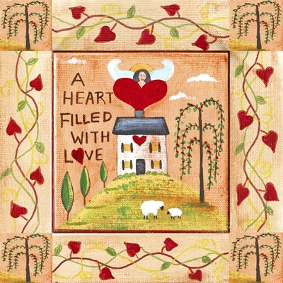 A Heart Filled With Love 1 Poster by Cheryl Bartley for $48.75 CAD