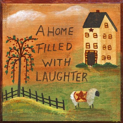 A Home Filled With Laughter Poster by Cheryl Bartley for $35.00 CAD