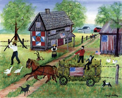 American Hay Ride Poster by Cheryl Bartley for $42.50 CAD