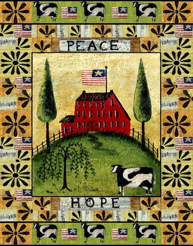 American Farm Peace Hope Poster by Cheryl Bartley for $40.00 CAD