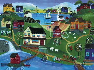 Fishermans Inn Poster by Cheryl Bartley for $41.25 CAD