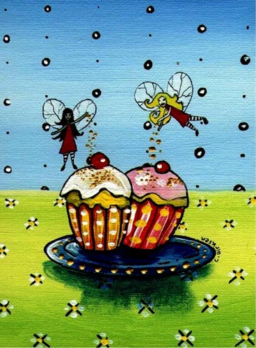 Fairy Cakes Poster by Cherie Roe Dirksen for $41.25 CAD