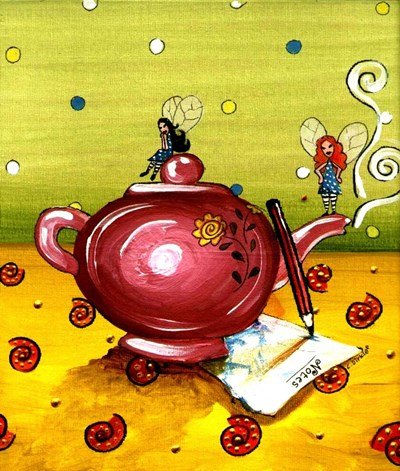Waiting For The Tea To Draw Poster by Cherie Roe Dirksen for $38.75 CAD