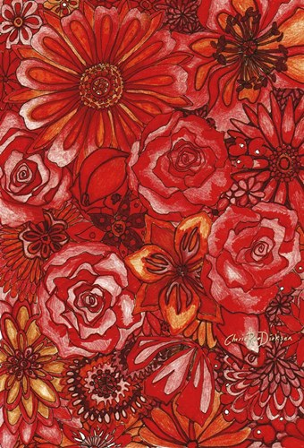 Red Flower Collage Poster by Cherie Roe Dirksen for $43.75 CAD
