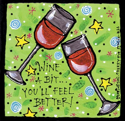 Wine A Bit Poster by Cherry Pie Studios for $33.75 CAD