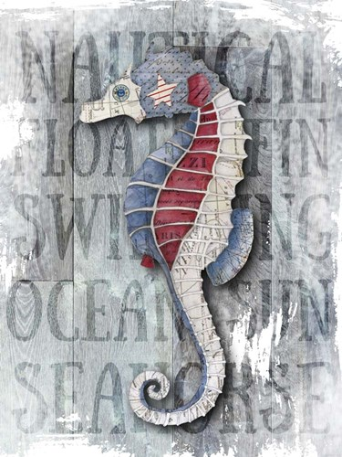 Sea Horse Poster by Christine Anderson Illustration for $58.75 CAD