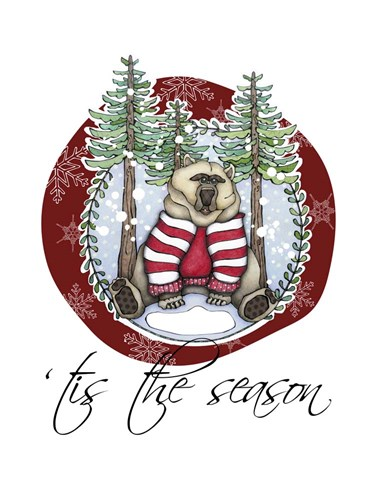 Woodlands Christmas Bear Poster by Christine Anderson Illustration for $58.75 CAD