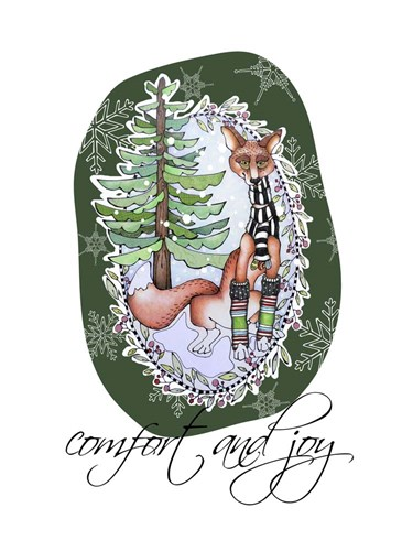 Woodlands Christmas Fox Poster by Christine Anderson Illustration for $58.75 CAD