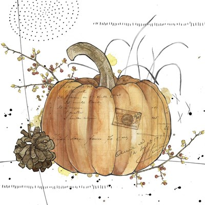 Fall Harvest - Pumpkin 1 Poster by Christine Anderson Illustration for $35.00 CAD