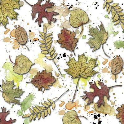 Multi Leaf Splats Pattern Poster by Christine Anderson Illustration for $35.00 CAD