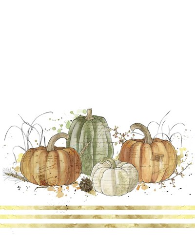 Pumpkins Poster by Christine Anderson Illustration for $40.00 CAD