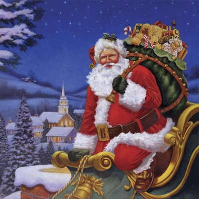 Roof Top Santa Poster by Christopher Nick for $48.75 CAD