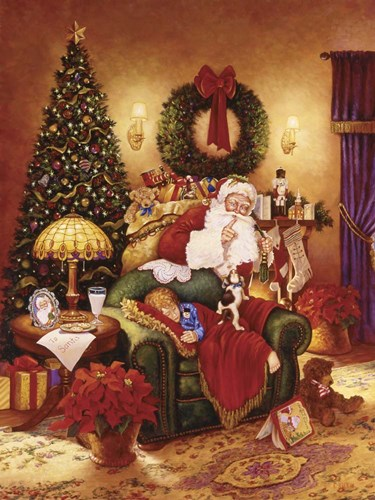 Santa Sleeping Poster by Christopher Nick for $41.25 CAD