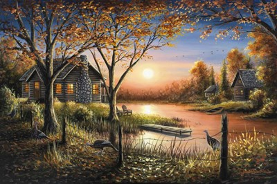 An Autumn Sunset Poster by Chuck Black for $62.50 CAD