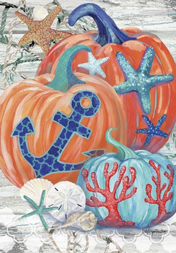 Coastal Pumpkins Poster by Cindy Fornataro for $42.50 CAD